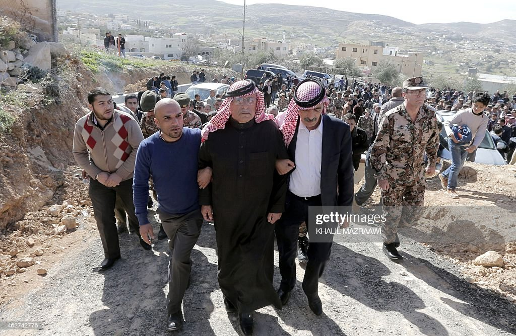 Safi the father of Jordanian pilot Maaz alKassasbeh who was killed by Islamic State group militants after he was captured by IS when his plane went...