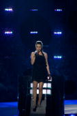 Safura of Azerbaijan performs at the open rehearsal at the Telenor Arena on May 18 2010 in Oslo Norway 39 countries will take part in the 55th annual...