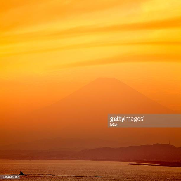 Sagami Bay with Mt. fuji in the background