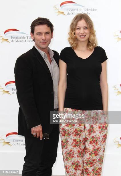 Sagamore Stevenin and Elodie Frenck attend Photocall for 'T'es Pas La Seule' at the Grimaldi Forum on June 10 2011 in Monaco Monaco