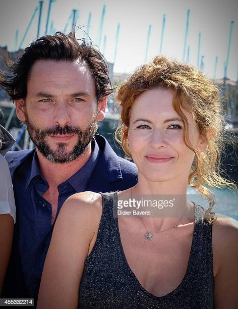 Sagamore Stevenin and Mathilde Lebrequier attend the photocall of 'Falco' as part of 16th Festival of TV Fiction of La Rochelle on September 12 2014...