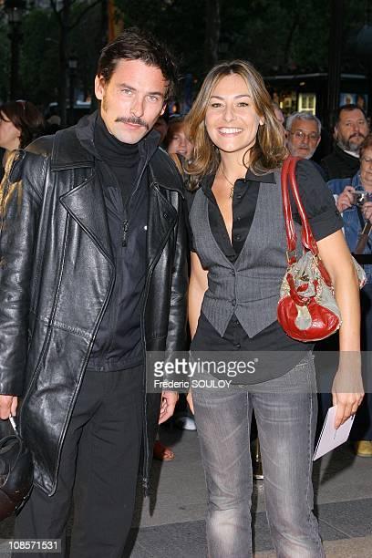 Sagamore Stevenin and Shirley Bousquet in Paris France on September 11 2007