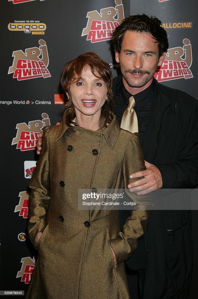 Sagamore Stevenin and Victoria Abril attend the NRJ Cine Awards.