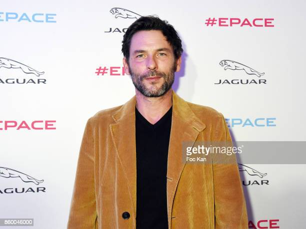 Sagamore Stevenin attends the Jaguar EPace Launch Party at Studio Acacias on October 10 2017 in Paris France