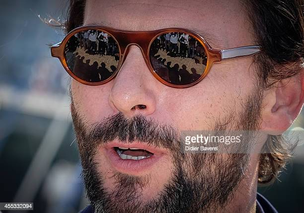 Sagamore Stevenin attends the photocall of 'Falco' as part of 16th Festival of TV Fiction of La Rochelle on September 12 2014 in La Rochelle France