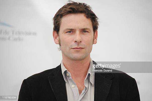 Sagamore Stevenin poses during a photocall for the TV show 'T'es Pas Seule' during the 2011 Monte Carlo Television Festival held at the Grimaldi...