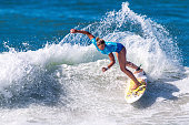 Sage Erickson of the United States of America surfs during Round 2 of the Oi Rio Pro on May 16 2015 in Rio de Janeiro Brazil