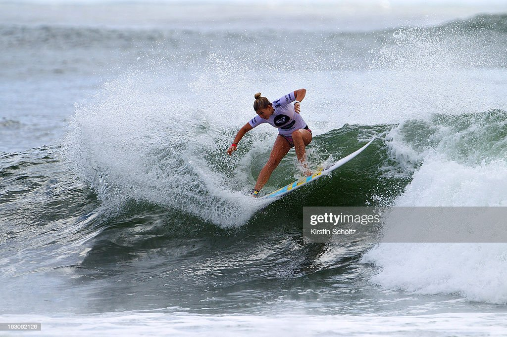 Sage Erickson of USA surfs during round two of the Roxy Pro Gold Coast 2013 on March 4, 2013 in Gold Coast, Australia.