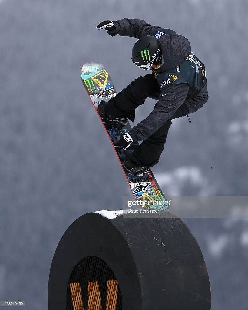 <a gi-track='captionPersonalityLinkClicked' href=/galleries/search?phrase=Sage+Kotsenburg&family=editorial&specificpeople=6711370 ng-click='$event.stopPropagation()'>Sage Kotsenburg</a> rides to 14th place in the men's FIS Snowboard Slopestyle World Cup at the U.S. Snowboarding and Freeskiing Grand Prix on December 22, 2013 in Copper Mountain, Colorado.