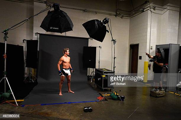 Sage Northcutt poses backstage for a portrait during the UFC 192 event at the Toyota Center on October 3 2015 in Houston Texas