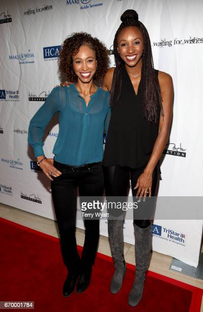 Sage Steele and Maria Taylor attend the 16th Annual Waiting for Wishes Celebrity Dinner Hosted by Kevin Carter Jay DeMarcus on April 18 2017 in...