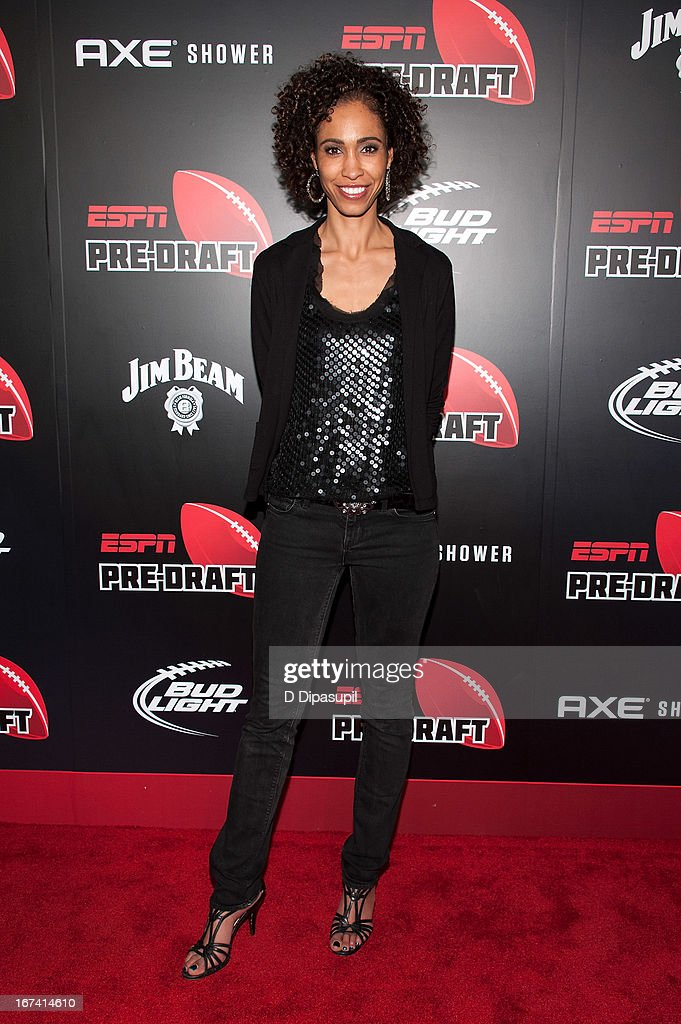 Sage Steele attends the ESPN The Magazine 10th annual Pre-Draft Party at The IAC Building on April 24, 2013 in New York City.