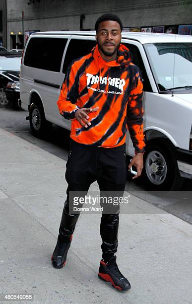 Sage the Gemini arrives for the 'Late Show with David Letterman' at Ed Sullivan Theater on March 25 2014 in New York City