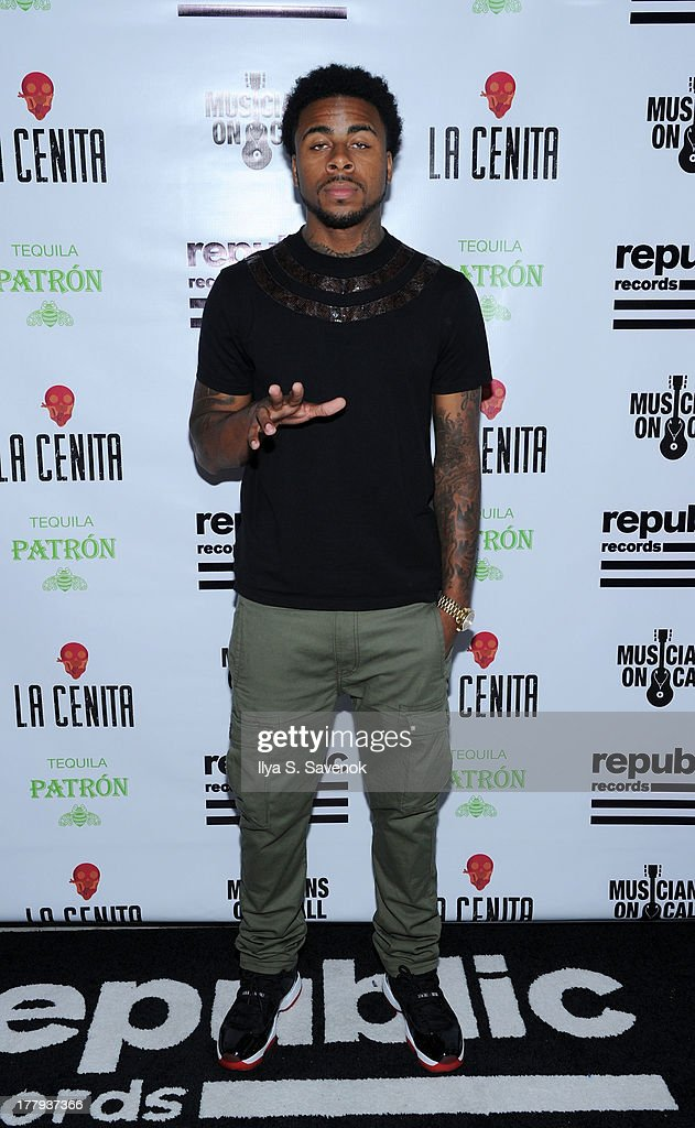 <a gi-track='captionPersonalityLinkClicked' href=/galleries/search?phrase=Sage+The+Gemini&family=editorial&specificpeople=11291148 ng-click='$event.stopPropagation()'>Sage The Gemini</a> attends Republic Records MTV VMA Viewing & After Party at La Cenita on August 25, 2013 in New York City.