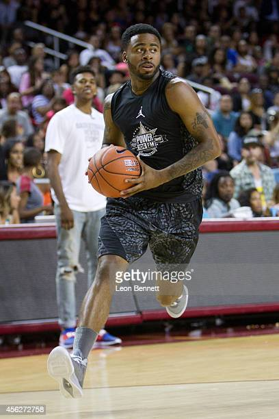 Sage the Gemini attends the Power 106's AllStar Celebrity Basketball Game Benefiting Homeboy Industries at USC Galen Center on September 21 2014 in...