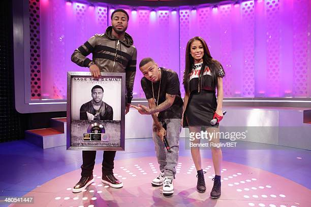Sage The Gemini Bow Wow and Keshia Chante attend 106 Park at BET studio on March 24 2014 in New York City