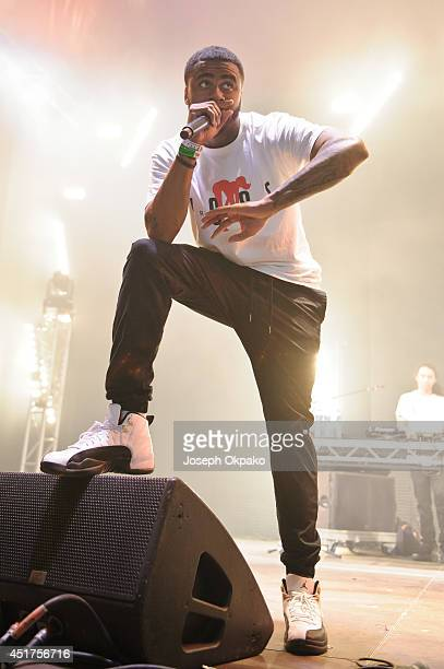 Sage the Gemini performs on stage at Wireless Festival at Finsbury Park on July 5 2014 in London United Kingdom