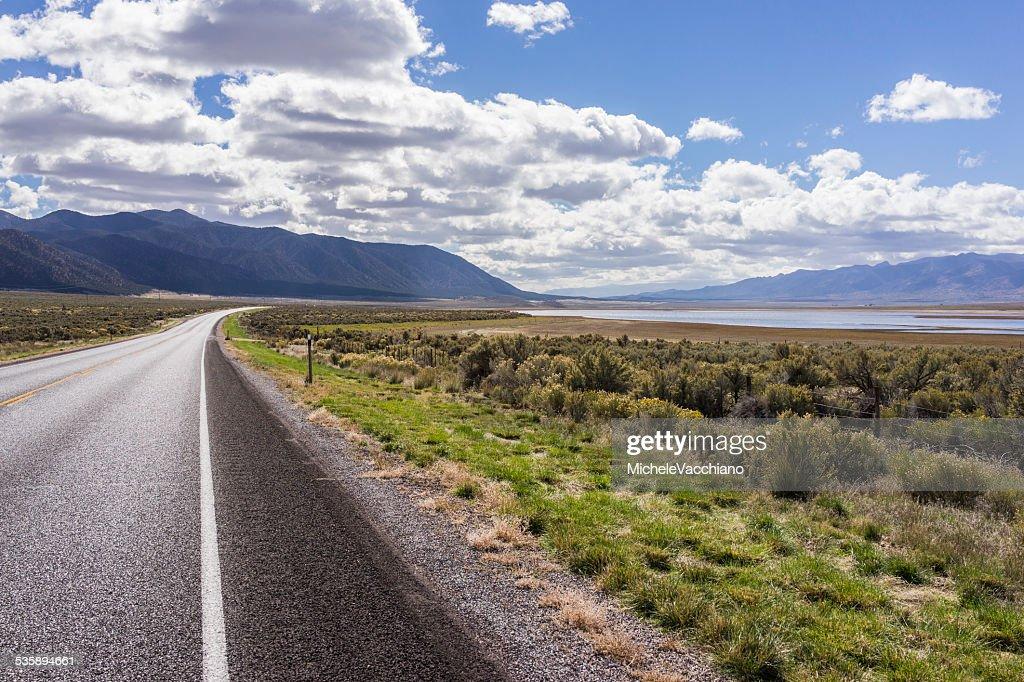 Wüsten-Beifuß auf dem US Highway 50 nahe Scipio Lake, Utah : Stock-Foto
