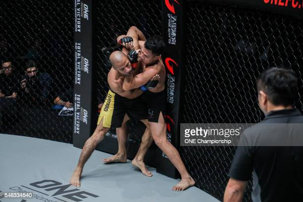 Sagetdao Petpayathai TKOs Mahmoud Mohamed with his elite striking during ONE Championship Shanghai at the Shanghai Oriental Sports Center on...