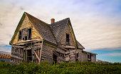 Sagging abandon house in rural prince edward island