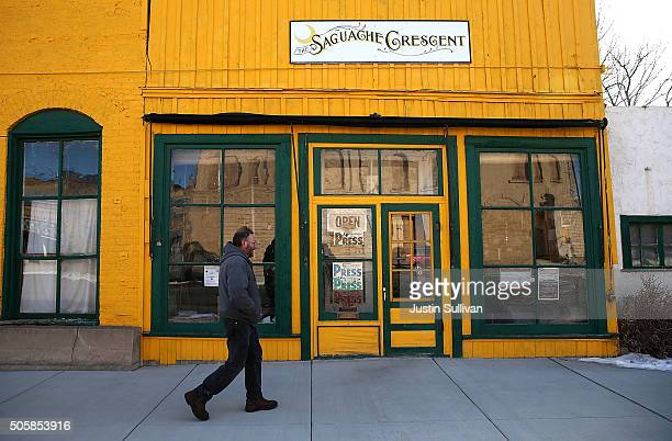 Saguache Crescent owner and editor Dean Coombs walks into the newspaper office on January 19 2016 in Saguache Colorado The Saguache Crescent...