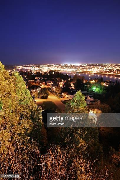 Saguenay City Lights at Night
