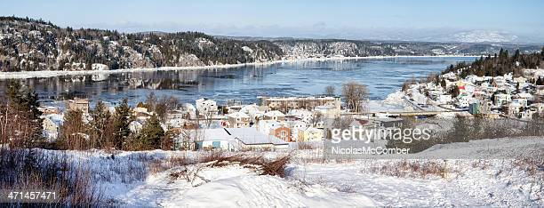Saguenay River panorama winter