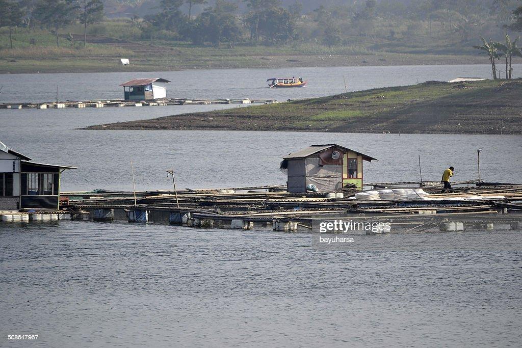 Saguling lake : Stock Photo