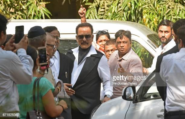 Sahara Chief Subrata Roy appears at session court on April 21 2017 in Mumbai India SEBI Court cancelled its nonbailable arrest warrants against...