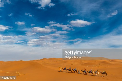 Sahara Desert on Erg Chebbi near Merzouga, Morocco