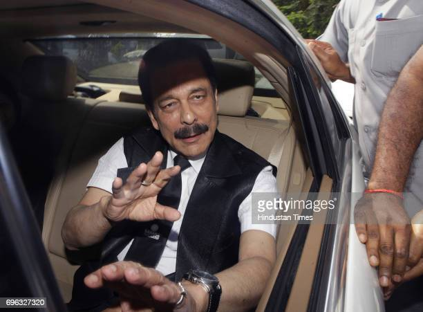 Sahara Group Chairman Subrata Roy enters the Securities and Exchange Board of India headquarters in Mumbai April 10 2013 The Securities and Exchange...