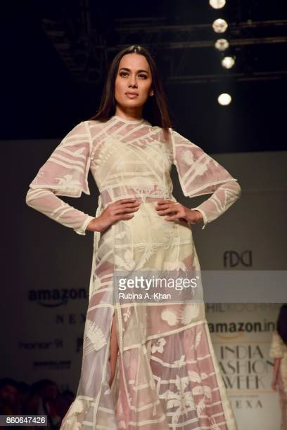 Sahil Kochhar's collection at the Fashion Design Council of India's 30th edition of India Fashion Week Spring Summer 2018 held at the National Small...