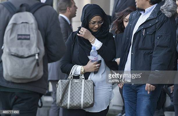Sahima Begum older sister of Shamima Begum leaves the House of Commons Home Affairs Committee after giving evidence on the background and details...