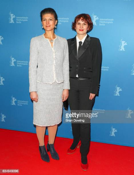 Sahra Wagenknecht and Katja Kipping attend the 'The Young Karl Marx' premiere during the 67th Berlinale International Film Festival Berlin at...