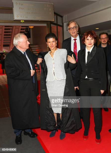 Sahra Wagenknecht and Oskar Lafontaine attend the 'The Young Karl Marx' premiere during the 67th Berlinale International Film Festival Berlin at...