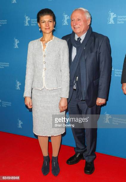 Sahra Wagenknecht and Oskar Lafontaine the 'The Young Karl Marx' premiere during the 67th Berlinale International Film Festival Berlin at...