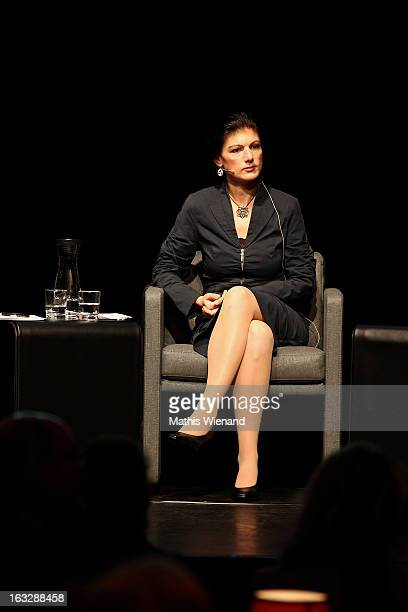 Sahra Wagenknecht attends 'Brigitte Live Frauen waehlen' at Capitol Duesseldorf on February 24 2013 in Dusseldorf Germany