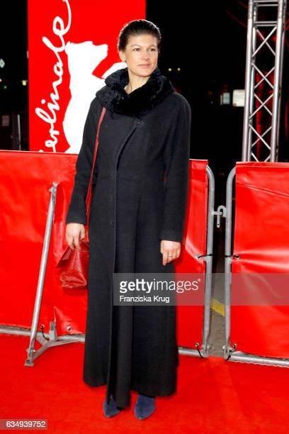 Sahra Wagenknecht attends the 'The Young Karl Marx' premiere during the 67th Berlinale International Film Festival Berlin at FriedrichstadtPalast on...