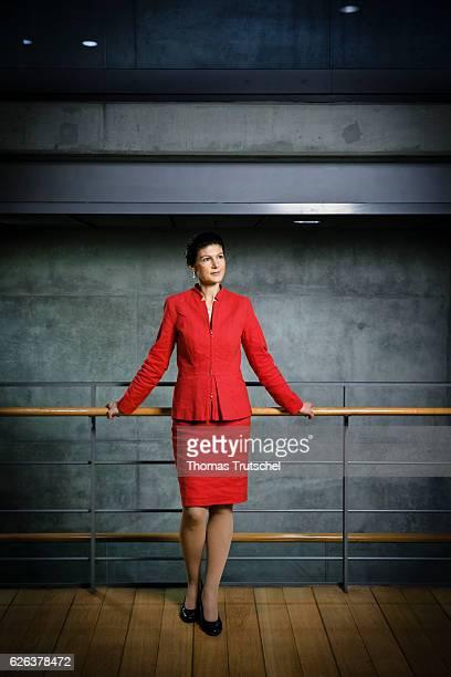 Sahra Wagenknecht DIE LINKE faction in german parliament Bundestag poses during a portrait session on November 23 2016 in Berlin Germany