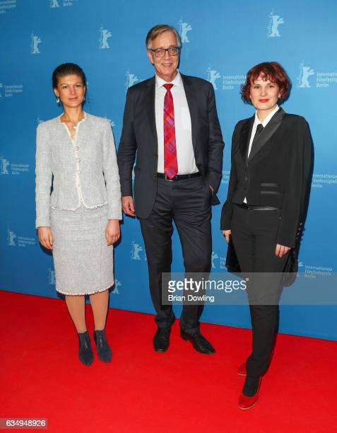 Sahra Wagenknecht Dietmar Bartsch and Katja Kipping attend the 'The Young Karl Marx' premiere during the 67th Berlinale International Film Festival...