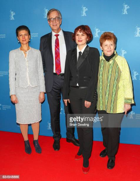 Sahra Wagenknecht Dietmar Bartsch Katja Kipping and guest attends the 'The Young Karl Marx' premiere during the 67th Berlinale International Film...