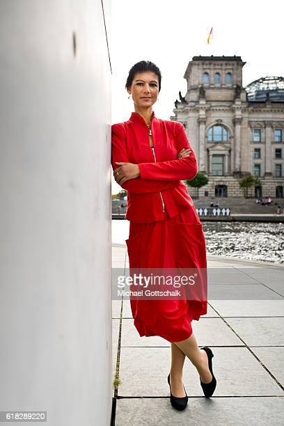 Sahra Wagenknecht head of Die Linke party fraction in german parliament Bundestag on September 20 2016 in Berlin Germany
