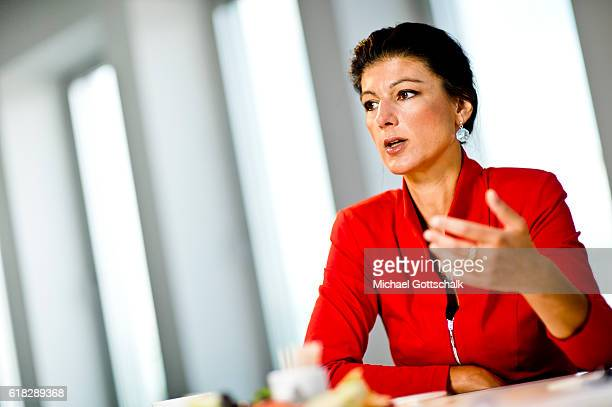 Sahra Wagenknecht head of Die Linke party fraction in german parliament Bundestag on September 20 2016 in Berlin Germany