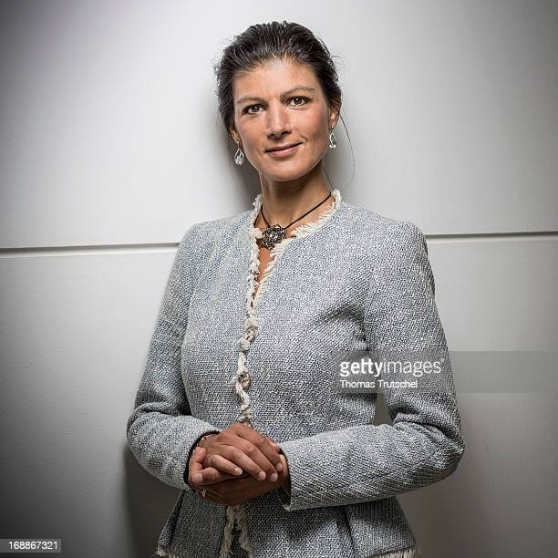 Sahra Wagenknecht Member of the parliamentary group of the German Left party poses during a portrait session on May 14 2013 in Berlin Germany