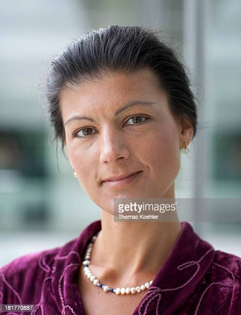 Sahra Wagenknecht member of the The Left Party at the Reichstag