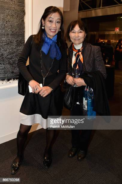 Sahtchio Hori and Atsukko Murayama attend the IFPDA Fine Art Print Fair Opening Preview at The Jacob K Javits Convention Center on October 25 2017 in...