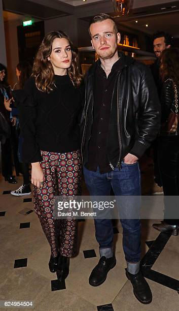 Sai Benett and Sam Doyle attend a live poetry reading event at Thomas's Burberry's allday British cafe located on 5 Vigo Street on November 21 2016...
