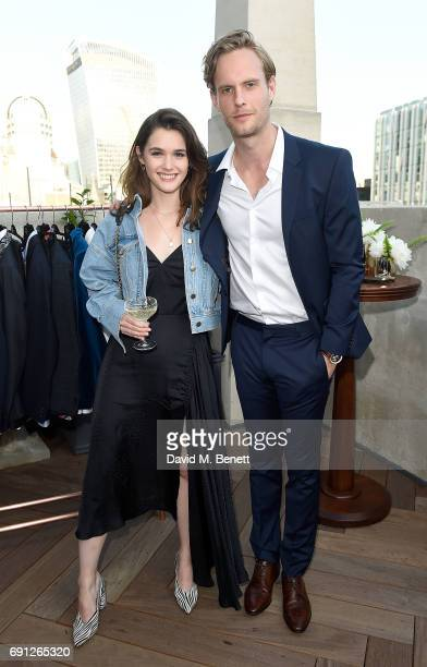 Sai Bennet and Jack Fox attend a Fine Tailoring Dinner hosted by Charlie CaselyHayford and Topman at The Ned on June 1 2017 in London England
