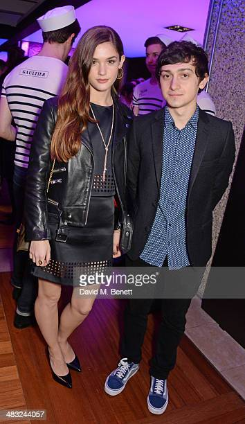 Sai Bennett and Craig Roberts attend an exclusive reception for 'The Fashion World of Jean Paul Gaultier From the Sidewalk to the Catwalk' showing at...