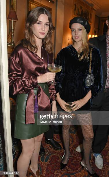 Sai Bennett and Greta Bellamacina attend the PORTER Lionsgate UK after party for 'Film Stars Don't Die In Liverpool' at Mark's Club on October 12...